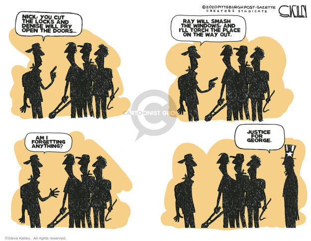 Cartoonist Steve Kelley  Steve Kelley's Editorial Cartoons 2020-06-04 civil rights