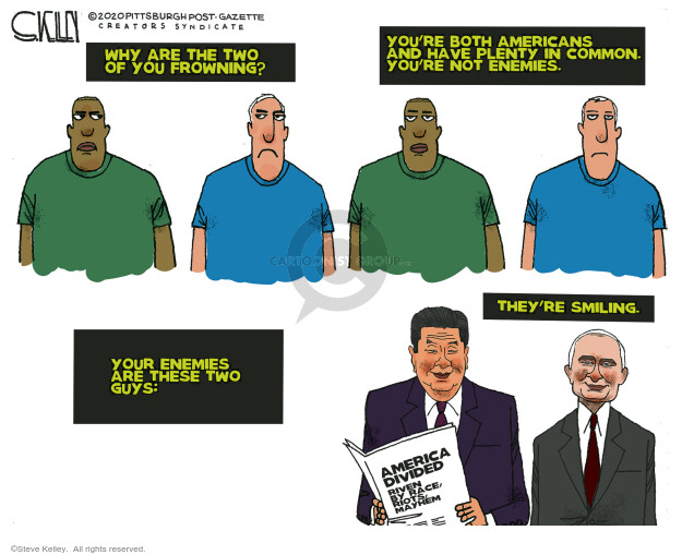 Steve Kelley  Steve Kelley's Editorial Cartoons 2020-06-05 Black Lives Matter