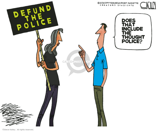 Steve Kelley  Steve Kelley's Editorial Cartoons 2020-06-18 police