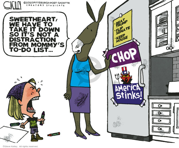 Steve Kelley  Steve Kelley's Editorial Cartoons 2020-07-03 protester