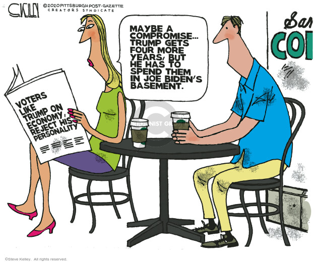 Steve Kelley  Steve Kelley's Editorial Cartoons 2020-07-09 voter