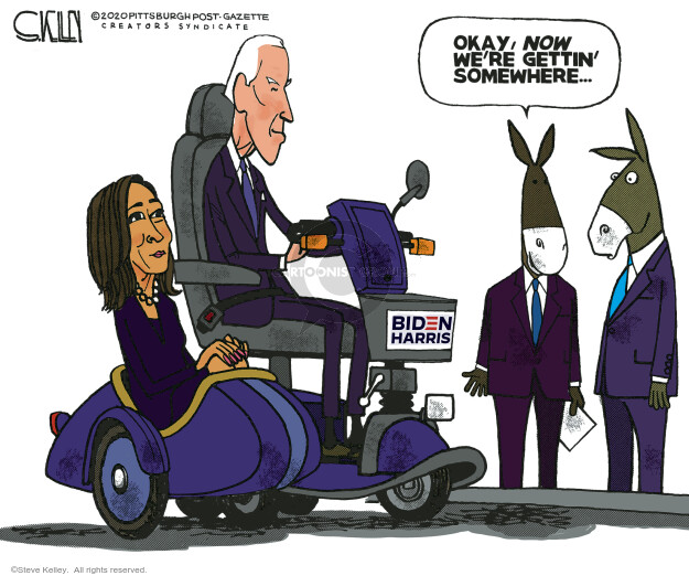 Steve Kelley  Steve Kelley's Editorial Cartoons 2020-08-13 2020 Election Joe Biden