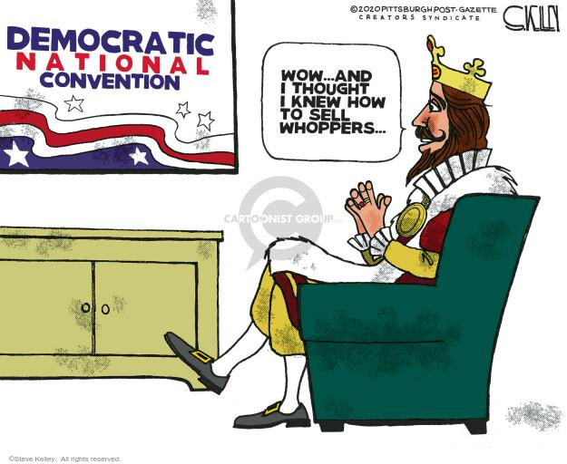 Steve Kelley  Steve Kelley's Editorial Cartoons 2020-08-20 candidacy
