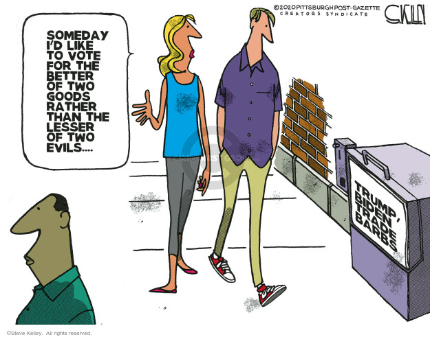 Steve Kelley  Steve Kelley's Editorial Cartoons 2020-08-24 2020 election