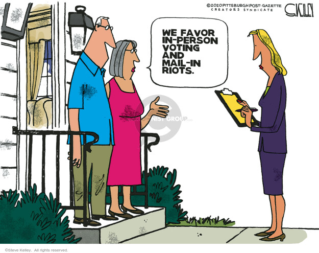 Steve Kelley  Steve Kelley's Editorial Cartoons 2020-09-06 voter
