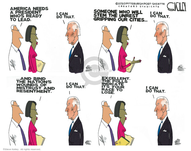 Steve Kelley  Steve Kelley's Editorial Cartoons 2020-09-17 Steve