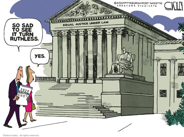 Steve Kelley  Steve Kelley's Editorial Cartoons 2020-09-24 election
