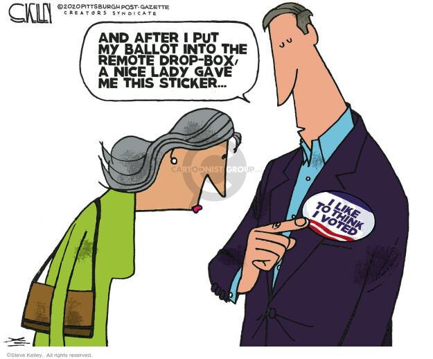 Steve Kelley  Steve Kelley's Editorial Cartoons 2020-10-23 election