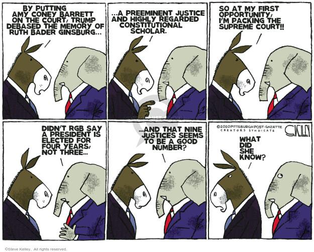 Steve Kelley  Steve Kelley's Editorial Cartoons 2020-10-29 Donald Trump