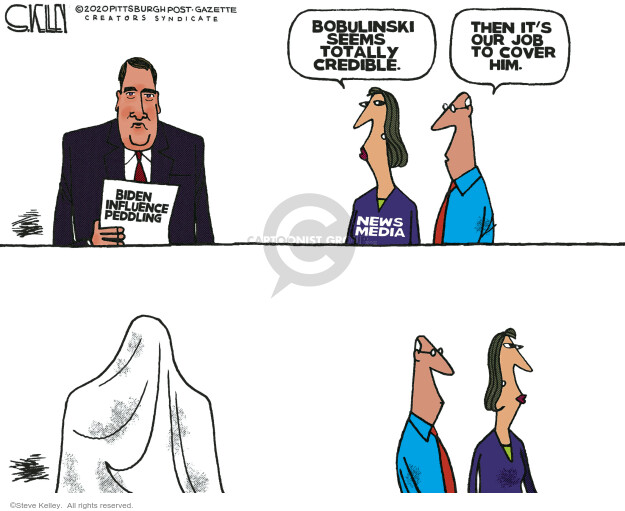 Steve Kelley  Steve Kelley's Editorial Cartoons 2020-10-30 2020 election