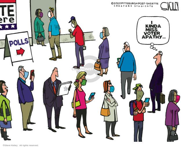 Steve Kelley  Steve Kelley's Editorial Cartoons 2020-11-03 voting line