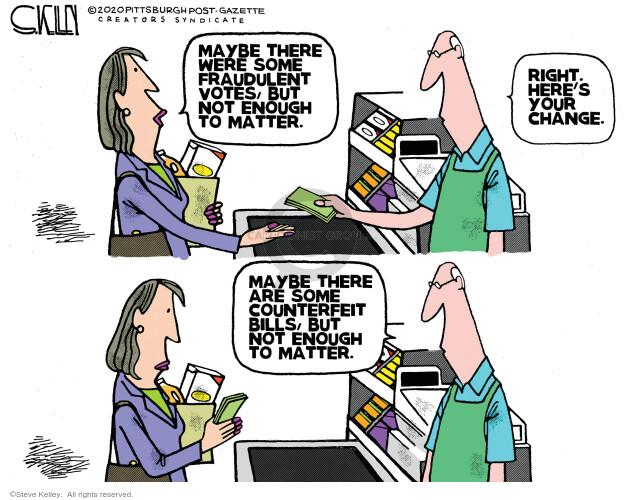 Steve Kelley  Steve Kelley's Editorial Cartoons 2020-11-20 presidential