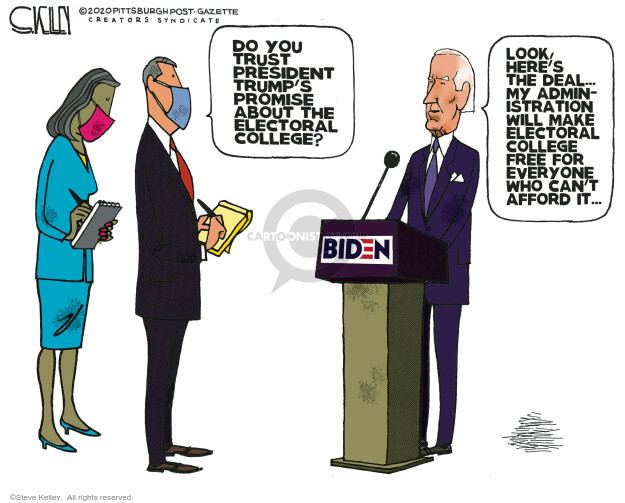 Steve Kelley  Steve Kelley's Editorial Cartoons 2020-11-29 Donald Trump Joe Biden