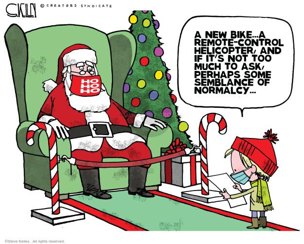 Steve Kelley  Steve Kelley's Editorial Cartoons 2020-12-11 editorial