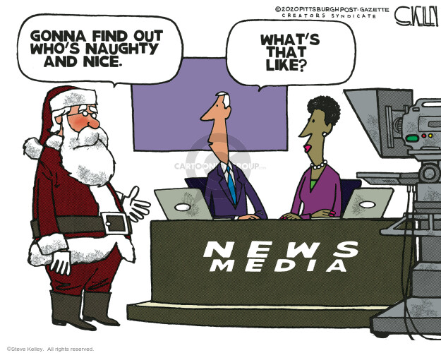 Steve Kelley  Steve Kelley's Editorial Cartoons 2020-12-20 journalism