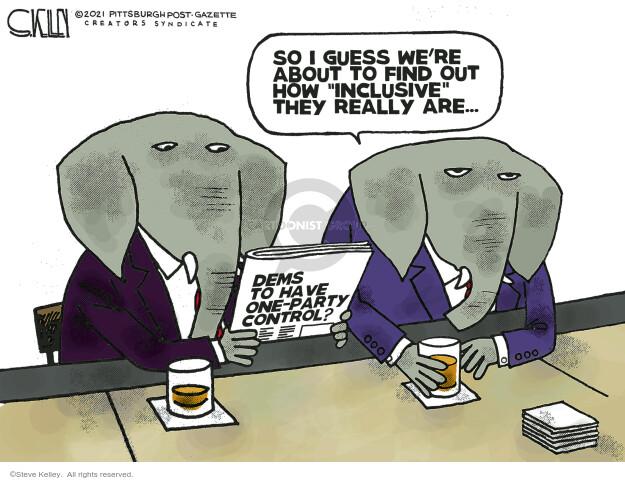Steve Kelley  Steve Kelley's Editorial Cartoons 2021-01-07 Steve