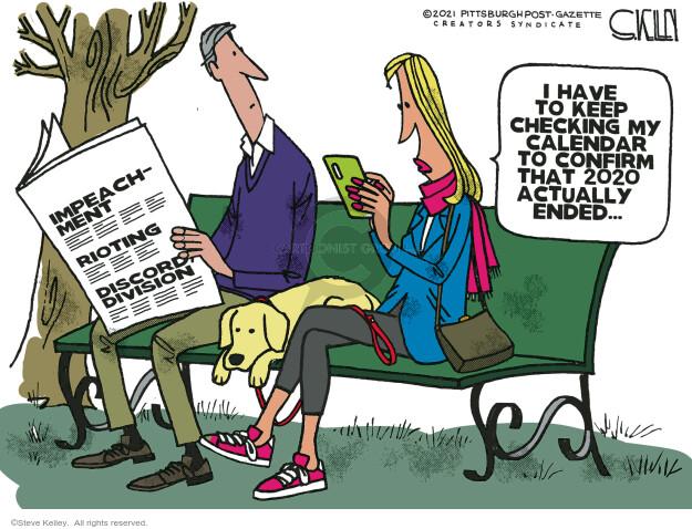 Steve Kelley  Steve Kelley's Editorial Cartoons 2021-01-14 Donald Trump
