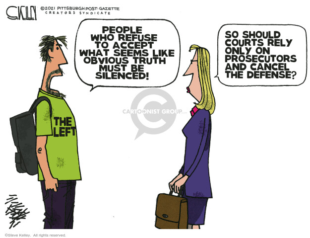 Steve Kelley  Steve Kelley's Editorial Cartoons 2021-01-17 legal