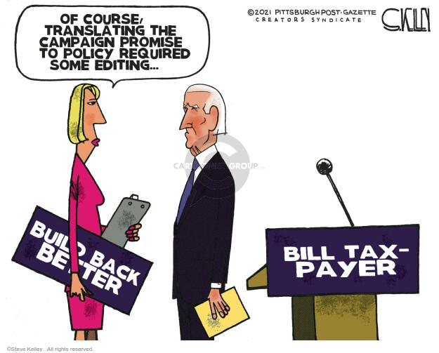 Steve Kelley  Steve Kelley's Editorial Cartoons 2021-01-22 policy