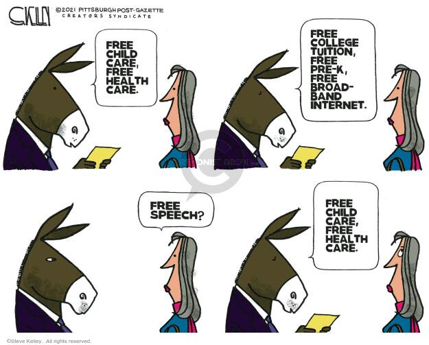 Steve Kelley  Steve Kelley's Editorial Cartoons 2021-01-28 democrat
