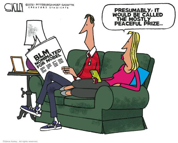 Steve Kelley  Steve Kelley's Editorial Cartoons 2021-02-04 Black Lives Matter