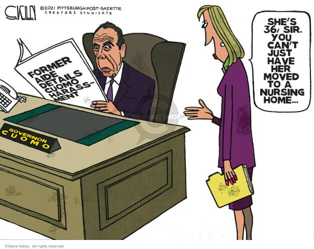 Steve Kelley  Steve Kelley's Editorial Cartoons 2021-02-26 editorial
