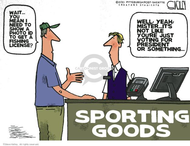 Steve Kelley  Steve Kelley's Editorial Cartoons 2021-04-01 voter