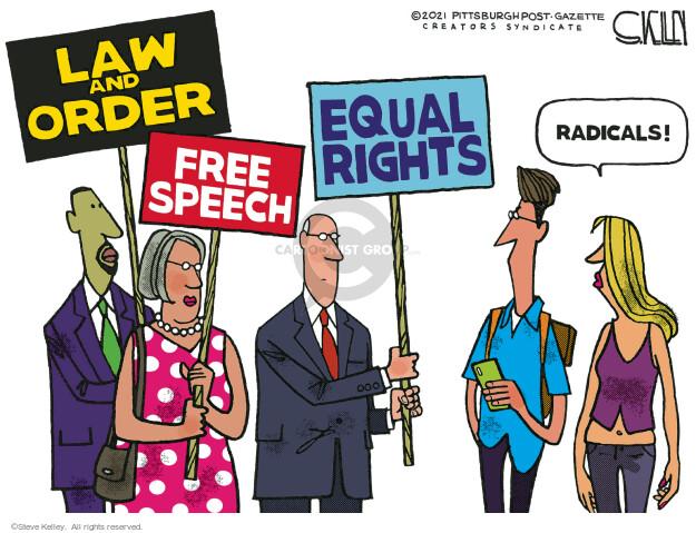 Steve Kelley  Steve Kelley's Editorial Cartoons 2021-05-02 equal rights