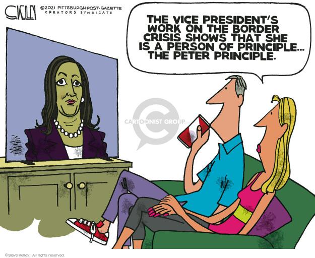 Steve Kelley  Steve Kelley's Editorial Cartoons 2021-06-10 border security