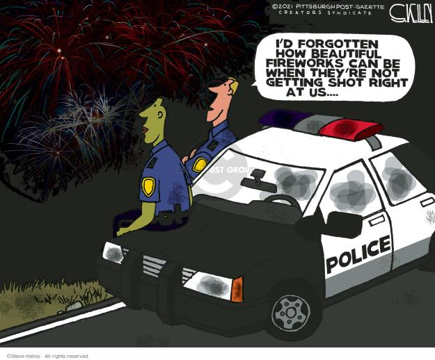 Steve Kelley  Steve Kelley's Editorial Cartoons 2021-07-04 police