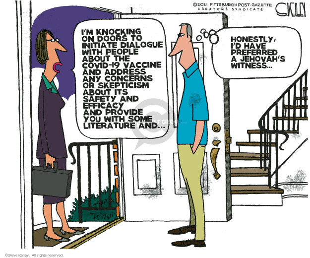 Steve Kelley  Steve Kelley's Editorial Cartoons 2021-07-08 COVID vaccine