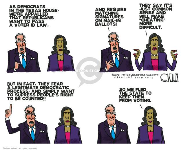 Steve Kelley  Steve Kelley's Editorial Cartoons 2021-07-15 democrat
