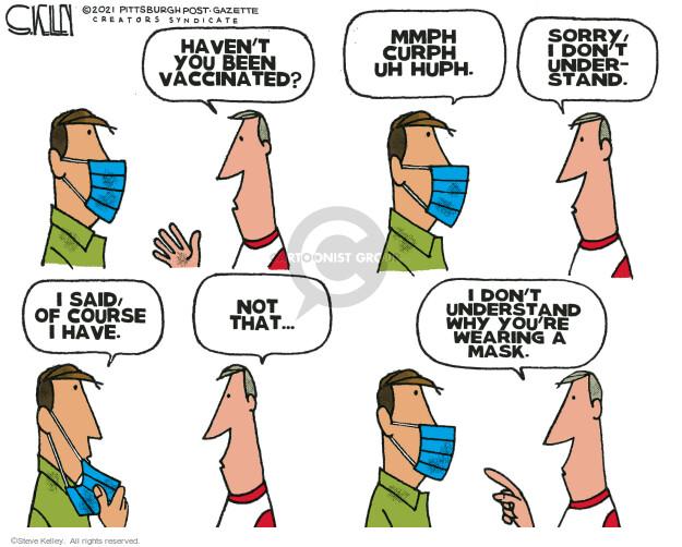 Steve Kelley  Steve Kelley's Editorial Cartoons 2021-07-30 COVID vaccine