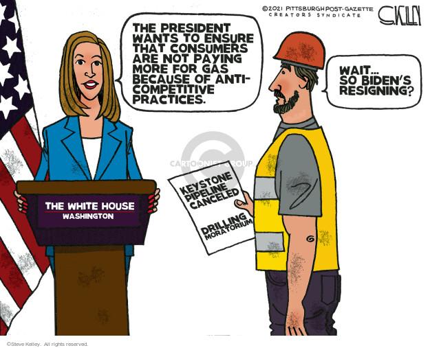 Steve Kelley  Steve Kelley's Editorial Cartoons 2021-08-13 oil drilling