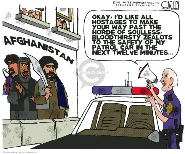 Steve Kelley  Steve Kelley's Editorial Cartoons 2021-08-19 car