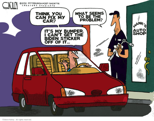 Steve Kelley  Steve Kelley's Editorial Cartoons 2021-09-20 car
