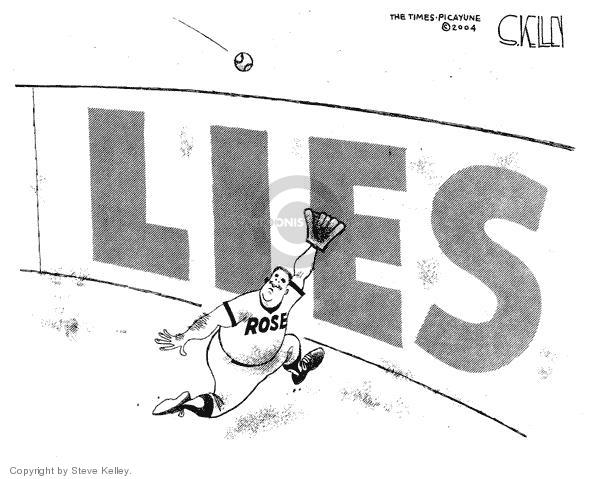 Cartoonist Steve Kelley  Steve Kelley's Editorial Cartoons 2004-01-08 athlete