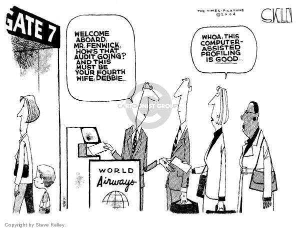 Cartoonist Steve Kelley  Steve Kelley's Editorial Cartoons 2004-01-14 editorial staff