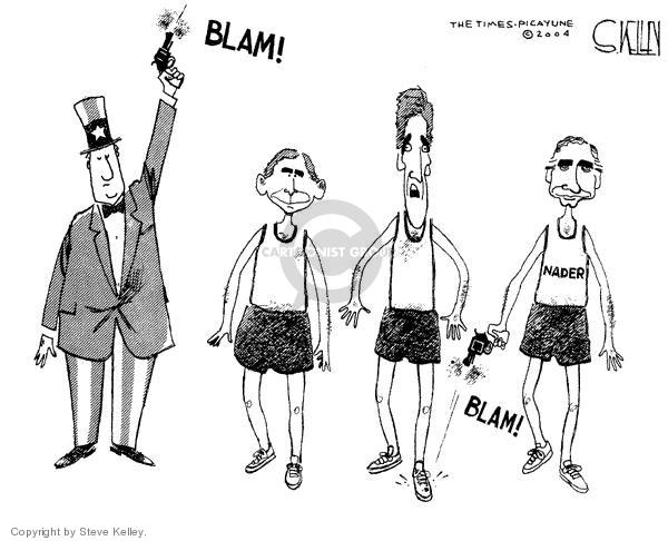 Cartoonist Steve Kelley  Steve Kelley's Editorial Cartoons 2004-02-24 blam