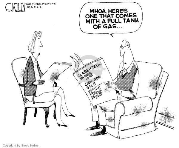 Cartoonist Steve Kelley  Steve Kelley's Editorial Cartoons 2004-03-05 automobile energy