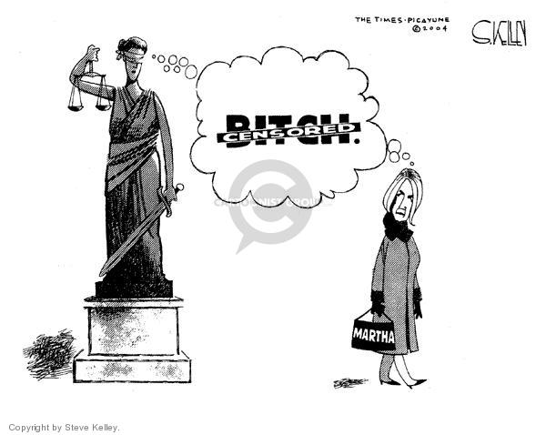 Steve Kelley  Steve Kelley's Editorial Cartoons 2004-03-09 statue