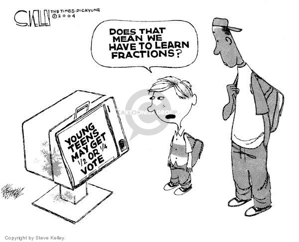 Steve Kelley  Steve Kelley's Editorial Cartoons 2004-03-10 voting rights