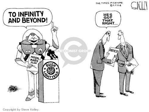 Steve Kelley  Steve Kelley's Editorial Cartoons 2004-01-15 federal budget