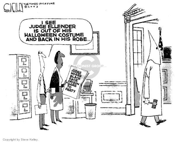 Steve Kelley  Steve Kelley's Editorial Cartoons 2003-11-12 blackface