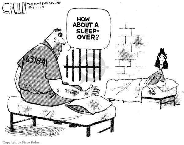 Steve Kelley  Steve Kelley's Editorial Cartoons 2003-12-04 prisoner