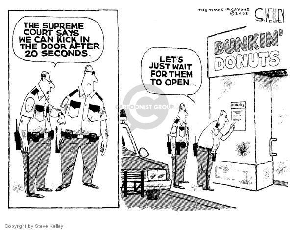 Steve Kelley  Steve Kelley's Editorial Cartoons 2003-12-05 policeman