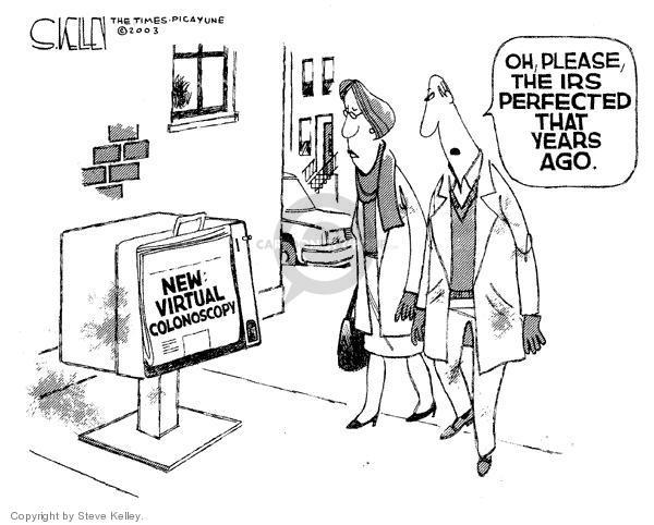 Cartoonist Steve Kelley  Steve Kelley's Editorial Cartoons 2003-12-07 tax audit