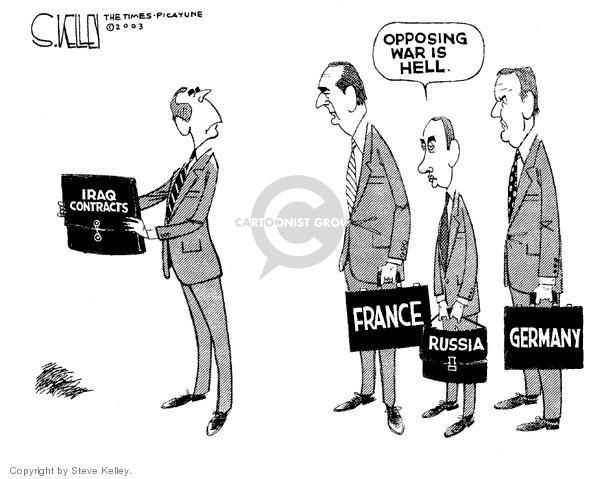 Cartoonist Steve Kelley  Steve Kelley's Editorial Cartoons 2003-12-13 french