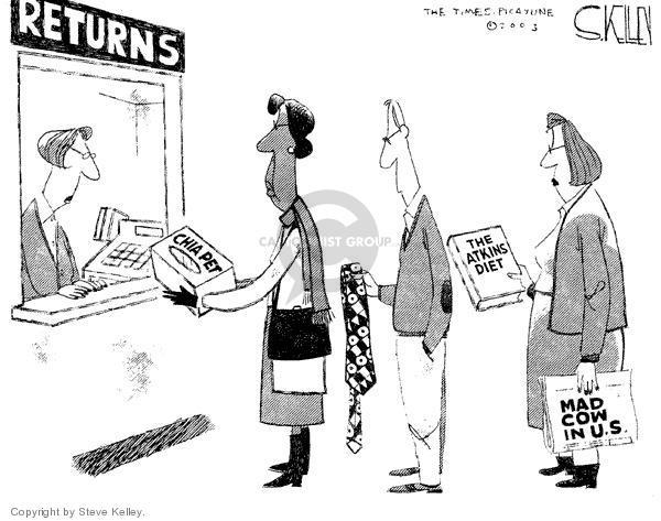 Cartoonist Steve Kelley  Steve Kelley's Editorial Cartoons 2003-12-29 animal