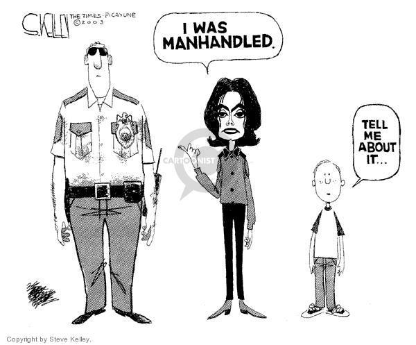 Steve Kelley  Steve Kelley's Editorial Cartoons 2003-12-30 police brutality
